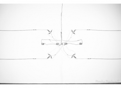 Jean-Pierre Gauthier wall of lines extract