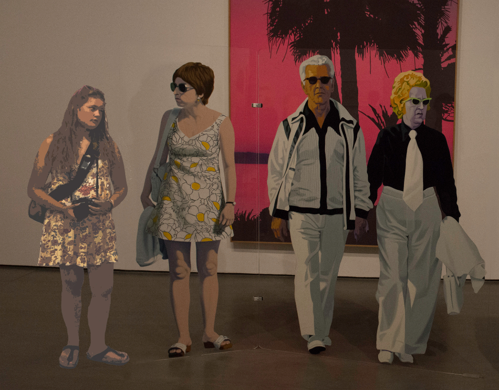 Edmund Alleyn sculpture art with a guest participant